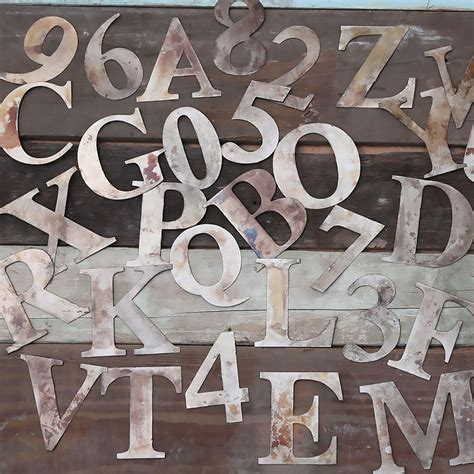 STEEL ALHPABET LETTERS FIGURES - 1 16 YOUNG BROTHERS