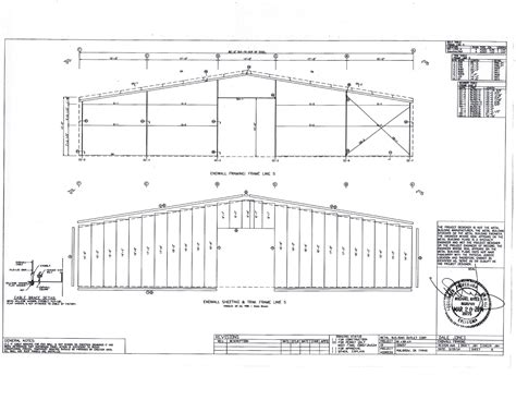 Steel building plans drawings Image