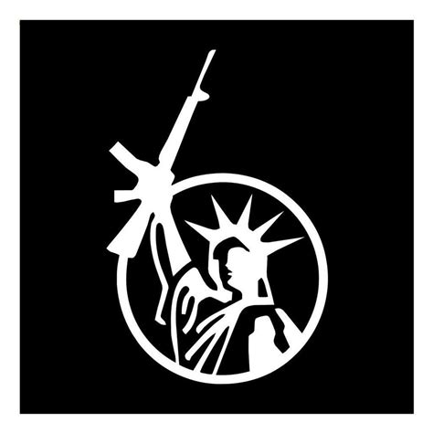 Sticker Of Satue Of Liberty With Assault Rifle