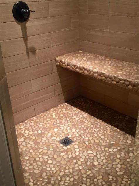 Stone pebbles for shower floor Image