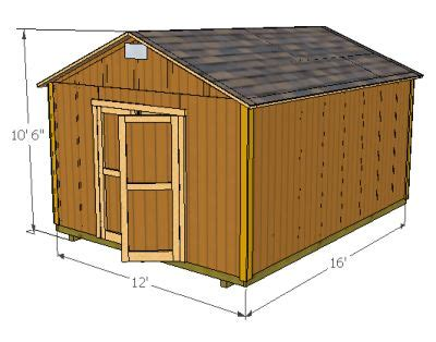 Storage shed plans 12x16 Image