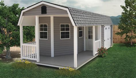 Storage shed with porch plans Image