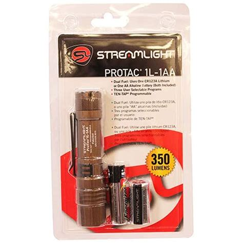 Streamlight Protac 1l Programmable 350 Lm Tactical Flashlight Coyote