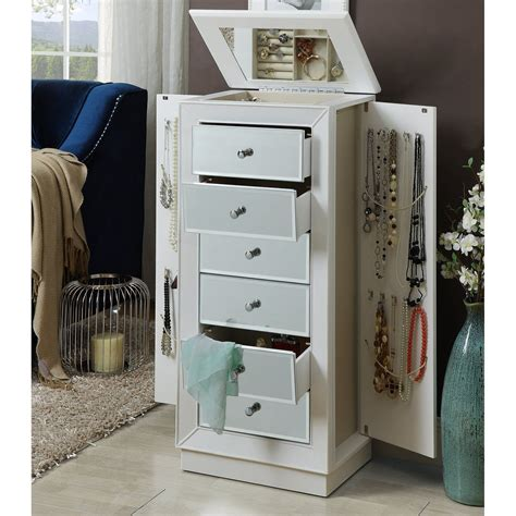 Streeter Jewelry Armoire with Mirror