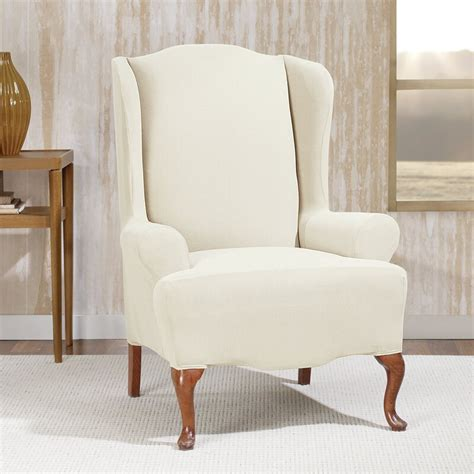 Stretch Morgan T-Cushion Wingback Slipcover