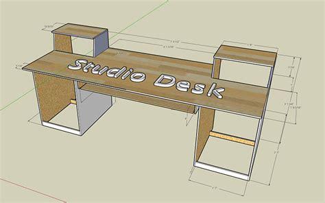 Studio Desk Diy Plans Image