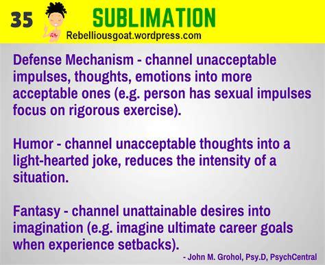 Sublimation Self Defense Mechanism