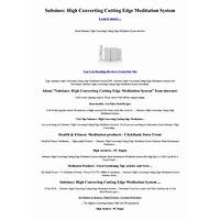 Subsines: high converting cutting edge meditation system discount code