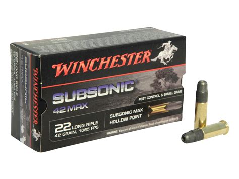 Subsonic 22 Long Rifle Ammo