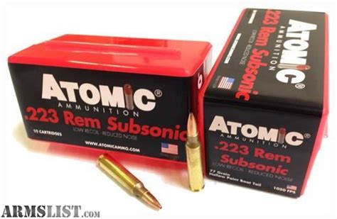 Subsonic 223 Ammo Bolt Action