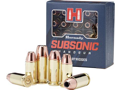 Subsonic Ammo 9mm Vs 45
