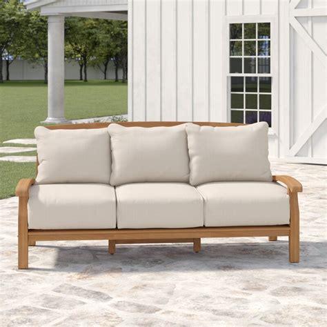 Summerton Teak Patio Sofa with Cushions