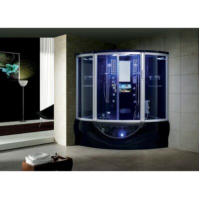 "Superior 64"" x 88"" Round Sliding Steam Shower with Base Included"