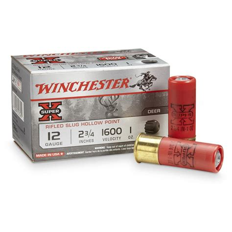 Superx Ammo 12 Gauge 23 4 1 Oz Rifled Slug Winchester