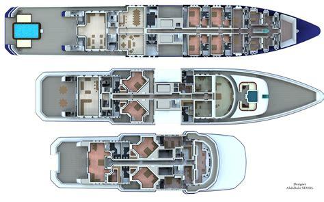 Superyacht deck plans Image