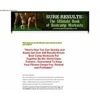 Buying sure results:the ultimate book of bootcamp workouts