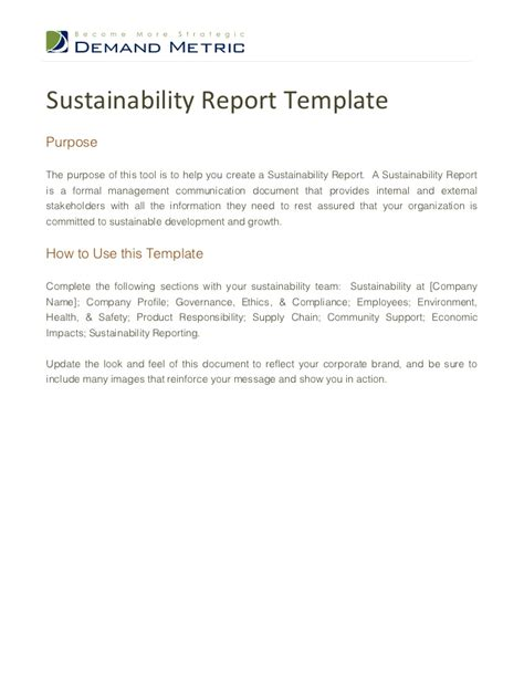 Sustainability Report Template CV Templates Download Free CV Templates [optimizareseo.online]