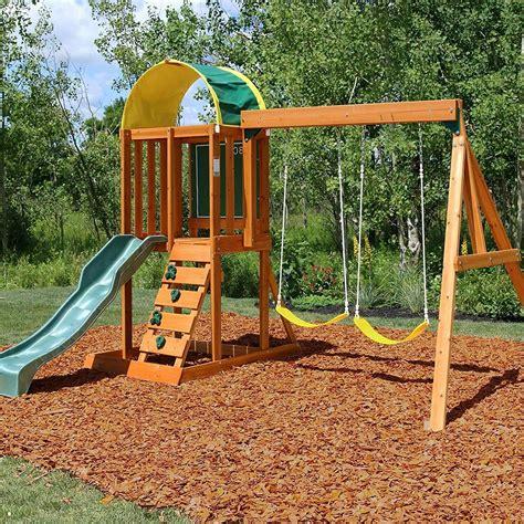 Swing set kits with wood Image