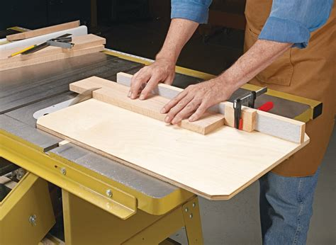 Table saw sled woodworking plans Image