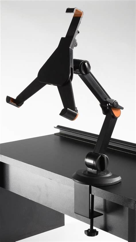 Tablet desk stand with universal design Image
