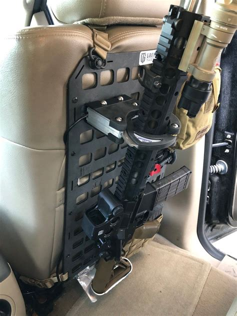 Tactical Assault Rifle Holder For Vehicle