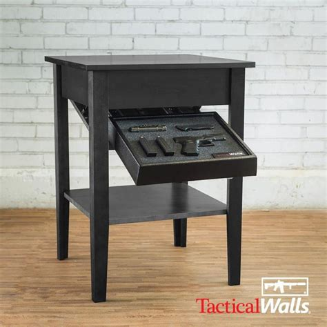 Tactical Walls Concealment Night Stand Concealment Night Stand Black
