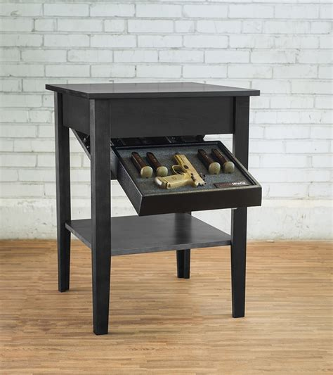 Tactical Walls Concealment Night Stand Concealment Night Stand Dutch Walnut