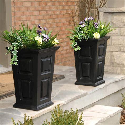 Tall black planters Image