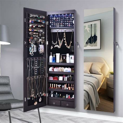 Tall jewelry box with full length mirror Image