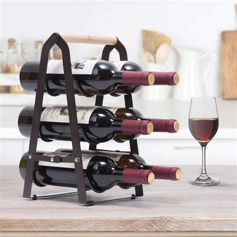 Tallent 12 Bottle Tabletop Wine Bottle Rack