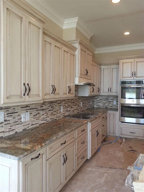 Tan Painted Kitchen Cabinets