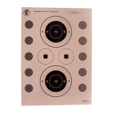Targets Target 100 Skills National Tactical Pistol Pack Langdon