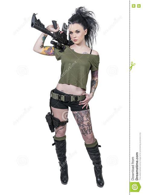 Tattooed Girls Shooting Assault Rifles