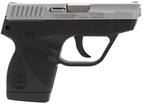 Taurus 738 Tcp 3 3in 380 Auto Stainless Black Polymer Ss