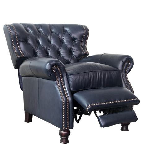 Tavion Leather Manual Recliner