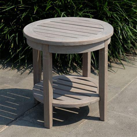 Teak wood outdoor table Image