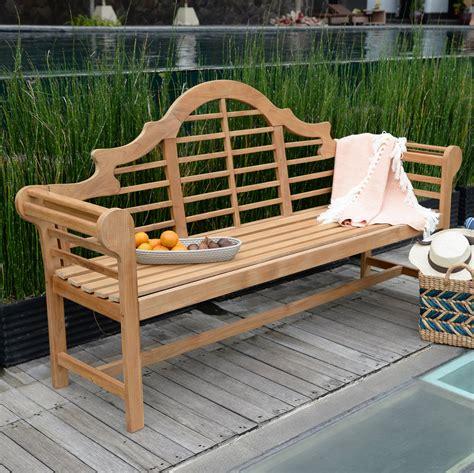 Teak wooden bench Image