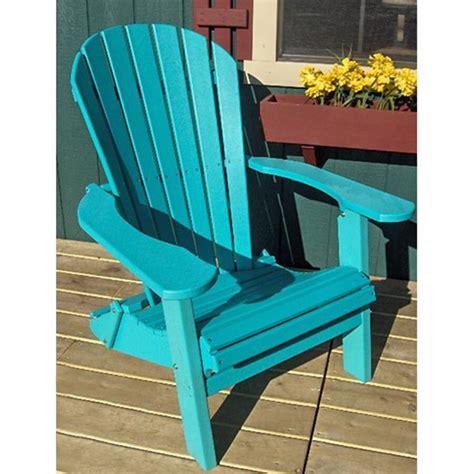 Teal plastic adirondack chairs Image