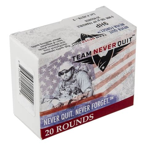 Team Never Quit 9mm 100gr Hp Frangible The Leading
