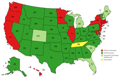 Tennessee Handgun Carry Permit Reciprocity