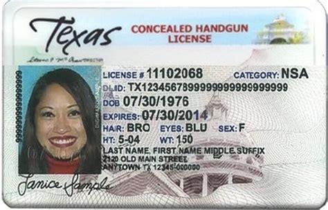 Texas Concealed Handgun License 2015