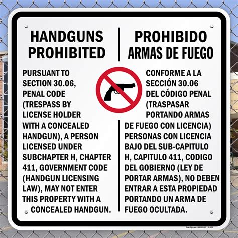 Texas Places Where Concealed Handguns Prohibited