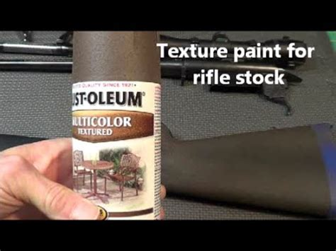 Textured Paint For Rifle Stock