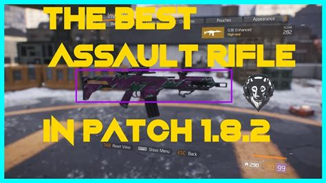 The Division Best Assault Rifle 1 8