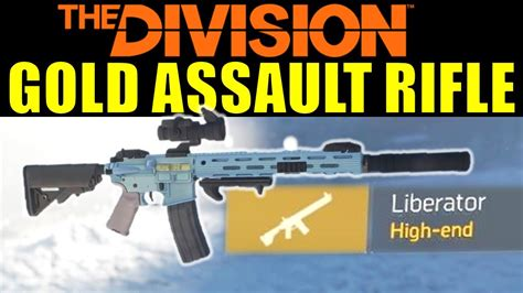 The Division High End Assault Rifle