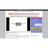 The 5 day back pain cure you need to know about! 75% commission promotional code