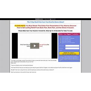 The 5 day back pain cure you need to know about! www 5daybackpaincure com tutorials