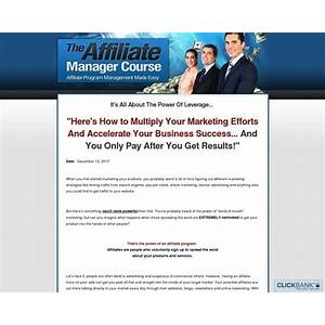 The affiliate manager course affiliate program management made easy bonus