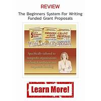 The beginners system for writing funded grant proposals instruction