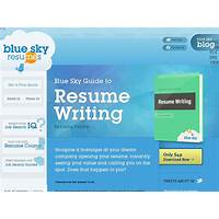 The blue sky guide to resume writing online tutorial